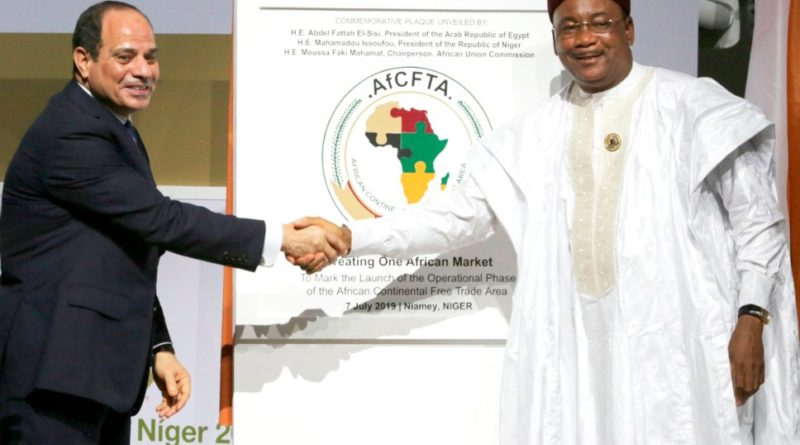 Lancement dimanche 7 Juillet 2019 à Niamey de l'opérationnalisation de la Zone de Libre Echange Continentale Africaine